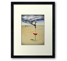 breaking the drought Framed Print