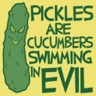 Pickles - Cucumber Swimming in Evil by DetourShirts