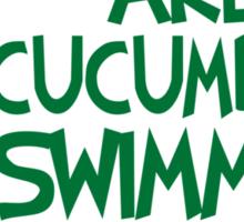 Pickles - Cucumber Swimming in Evil Sticker