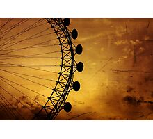 London Eye silhouette Photographic Print