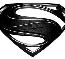 Man of Steel logo - black & white by avi-n-ash