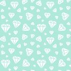 Mint Faceted Diamonds Pattern by ImageNugget