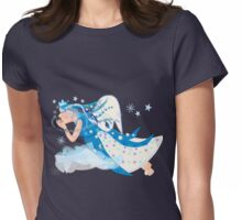 Blowing snowflakes Womens Fitted T-Shirt