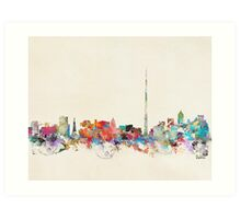 dublin city skyline Art Print