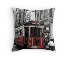 Tram in Beyoğlu,Istanbul. Throw Pillow