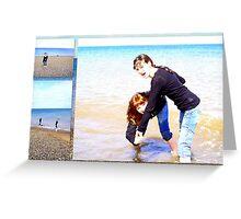 Holkham Beach Fun   Greeting Card