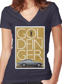Goldfinger - James Bond Movie Poster Women's Fitted V-Neck T-Shirt