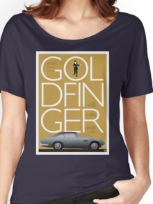 Goldfinger - James Bond Movie Poster Women's Relaxed Fit T-Shirt