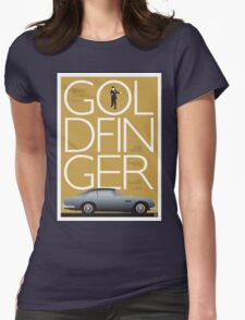 Goldfinger - James Bond Movie Poster Womens Fitted T-Shirt