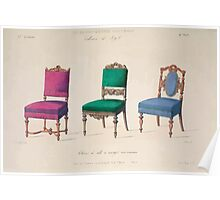 Le Garde Meuble Desire Guilmard 1839 0049 High Style Seat Furniture Interior Design Poster