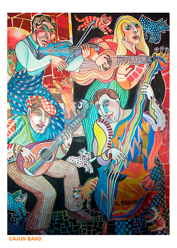Cajun Band by Sally Sargent