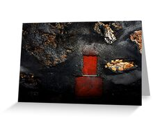 The little red door in the lost wall Greeting Card