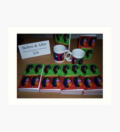 """My book """"Before & After"""" Art Print"""