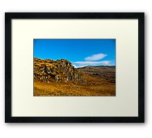 Colours of Autumn in the Duddon Valley Framed Print