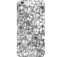 Soft Grey Tones Bicycles iPhone Case/Skin