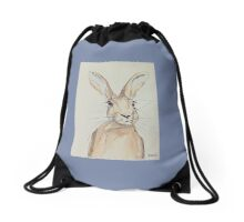 Hop Hare- Ears pricked up Drawstring Bag