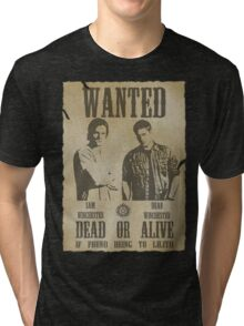 Supernatural - Wanted Dead or Alive  Tri-blend T-Shirt