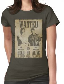 Supernatural - Wanted Dead or Alive  Womens Fitted T-Shirt