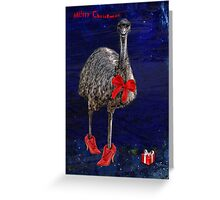 merry christmas from downunder! Greeting Card