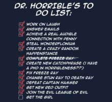 Dr. Horrible's To Do List  One Piece - Long Sleeve