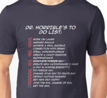 Dr. Horrible's To Do List  Unisex T-Shirt
