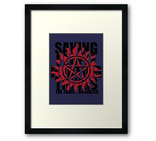Supernatural - Saving People, Hunting Things  Framed Print