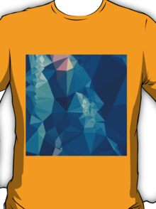 Ball Blue Abstract Low Polygon Background T-Shirt