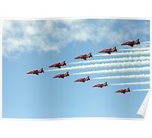 Red Arrows in Formation - Wings and Wheels 2010 Poster