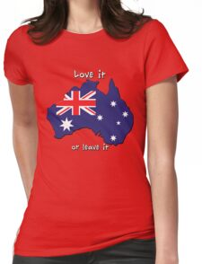 Australia   Love it - or leave it Womens Fitted T-Shirt