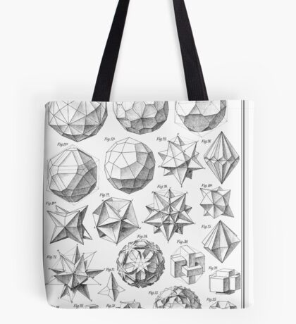 Max Bruckner 1906 polyhedra & icosahedron models Tote Bag