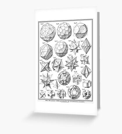 Max Bruckner 1906 polyhedra & icosahedron models Greeting Card