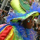 the green girl at carnival by LisaBeth