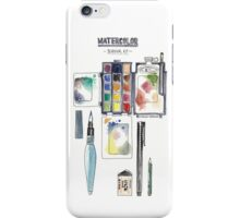 Watercolor Survival Kit iPhone Case/Skin