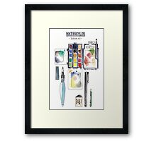 Watercolor Survival Kit Framed Print