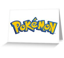 Pokémon logo Greeting Card