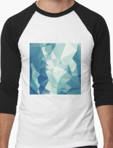 Turquoise Green Abstract Low Polygon Background T-Shirt
