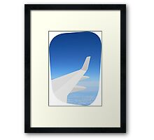 Plane Window Framed Print