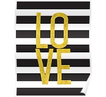 love gold foil Poster
