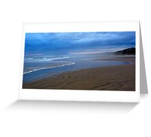 Simple beauty - Ocean Beach, Tasmania Greeting Card