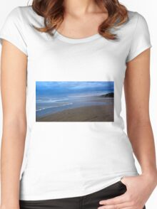 Simple beauty - Ocean Beach, Tasmania Women's Fitted Scoop T-Shirt