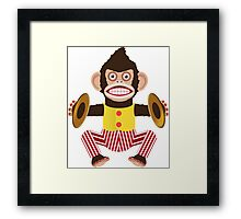 Monkey with cymbals. Framed Print