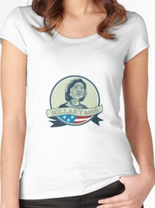 Hillary Clinton President 2016 Circle Women's Fitted Scoop T-Shirt