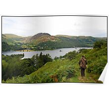 View on Glenridding from Silver Bay walk Poster