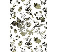 Inked Toile Wild Rose in Green Photographic Print