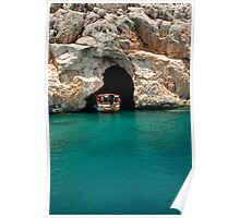 Entering Pirate Cave, Turquoise Coast Poster