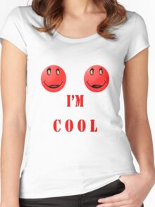 I'M COOL Women's Fitted Scoop T-Shirt