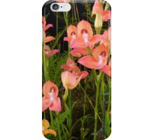 Peach Glasgow Orchids iPhone Case/Skin
