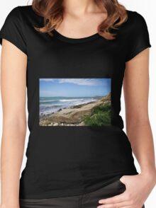 Osmington Mills Seascape 4 Women's Fitted Scoop T-Shirt