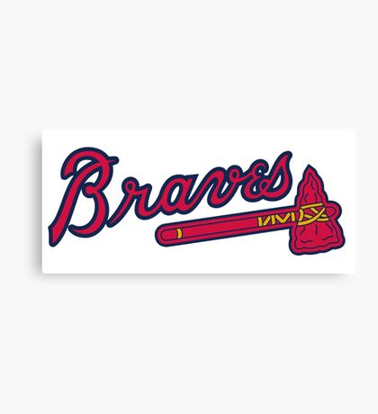 Atlanta Braves logo Canvas Print