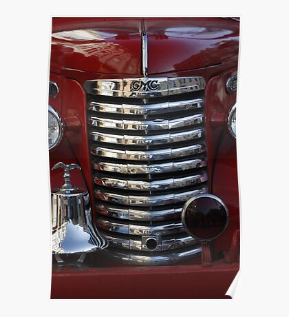 Old Fire Truck Grille Poster